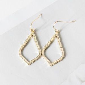 Kendra Scott Sophia Small Drop Gold Earrings New
